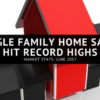 June 2017: Single Family Home Sales Hit Record Highs